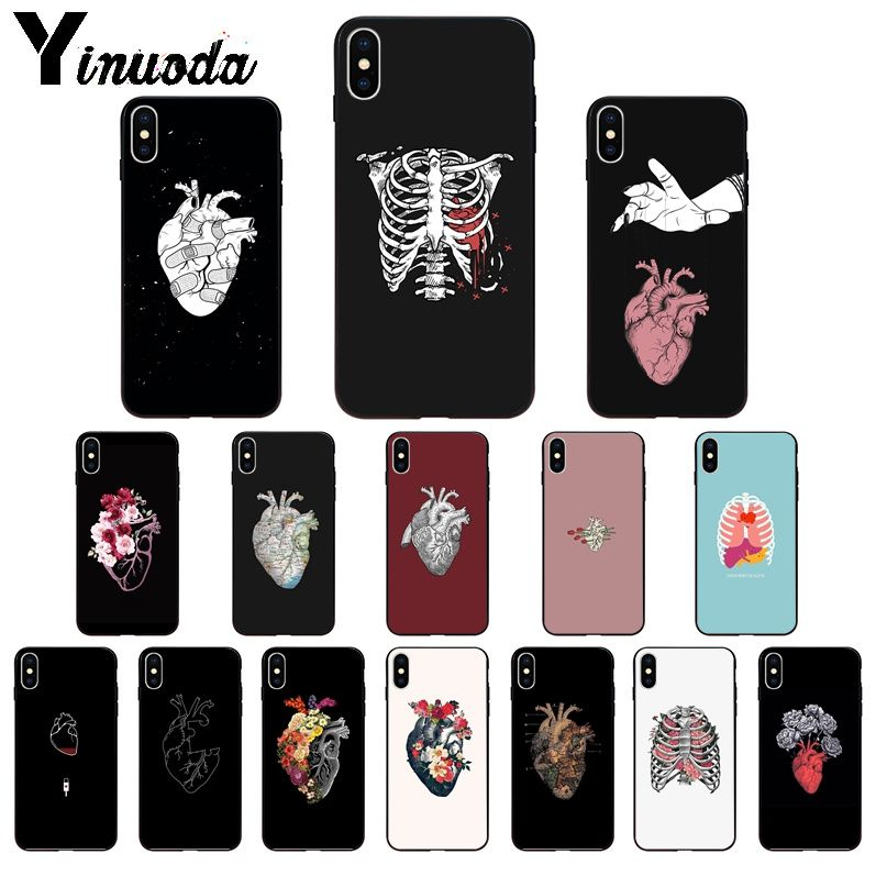 Galleria fotografica Yinuoda Medical Human Organs Heart Meridian Kidney Art Cell Phone Case for iPhone 8 7 6 6S Plus X XS MAX 5 5S SE XR 11 11pro max