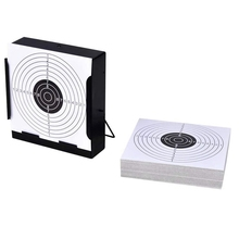 Target-Holder Pellet-Trap Airsoft Tactical-Shooting Hunting for 14cm 100-Paper Square