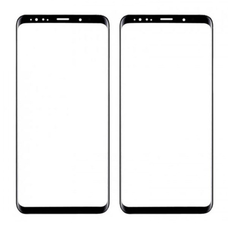black For Samsung Galaxy S6 S7 edge S8 S8+ S9 S9+ Plus Note 8 9 Front Outer Glass Lens Touch Screen Panel Repair Replacement