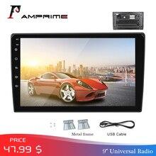 """AMPrime """" Автомобильный Авторадио 2 Din мультимедийный плеер Mirrorlink Авто Стерео Bluetooth USB FM видео MP5 плеер с задней камерой"""