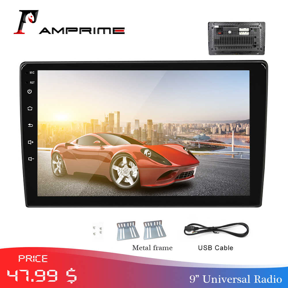 "Amprime """" ""Mobil Auto Radio Radio 2 DIN Multimedia Player Mirrorlink Auto Stereo Bluetooth USB FM Video MP5 Pemain dengan kamera Belakang"
