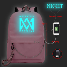 цена на New casual luminous backpack ladies backpack, travel backpack, laptop backpack, girl backpack with USB charging