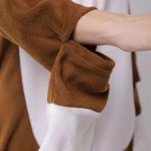 Image 2 - HKSNG Pijama con perritos marrones para adulto, mono de dibujos animados de forro polar suave, disfraces de Cosplay, el mejor regalo, Kigurumi