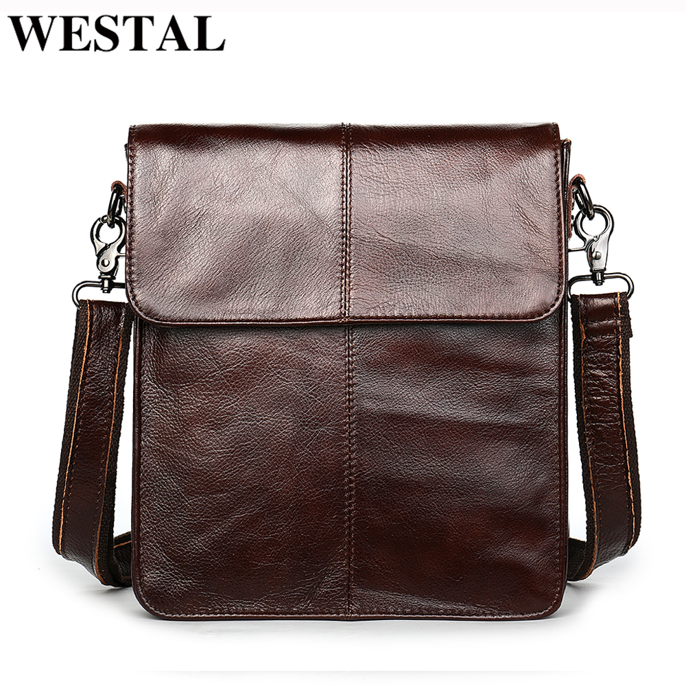 WESTAL men's bags genuine leather shouler bag for men messenger bag men's crossbody handbag men's shoulder bag flap zipper bags| | - AliExpress