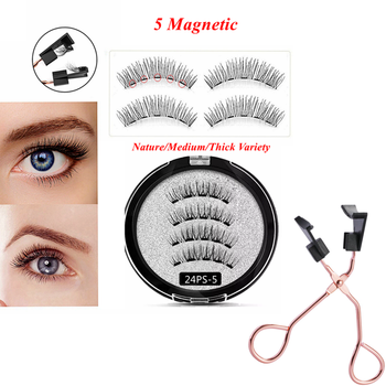 Magnetic Eyelashes with 5 Magnets,Reusable 3D Mink Magnetic Eyelash,Natural cils magnetique,cilios magnetico,pestañas magneticas magnetic eyelashes 5pairs with liquid magnetic eyeliner natural waterproof long lasting soft pestañas magneticas cils magnetique