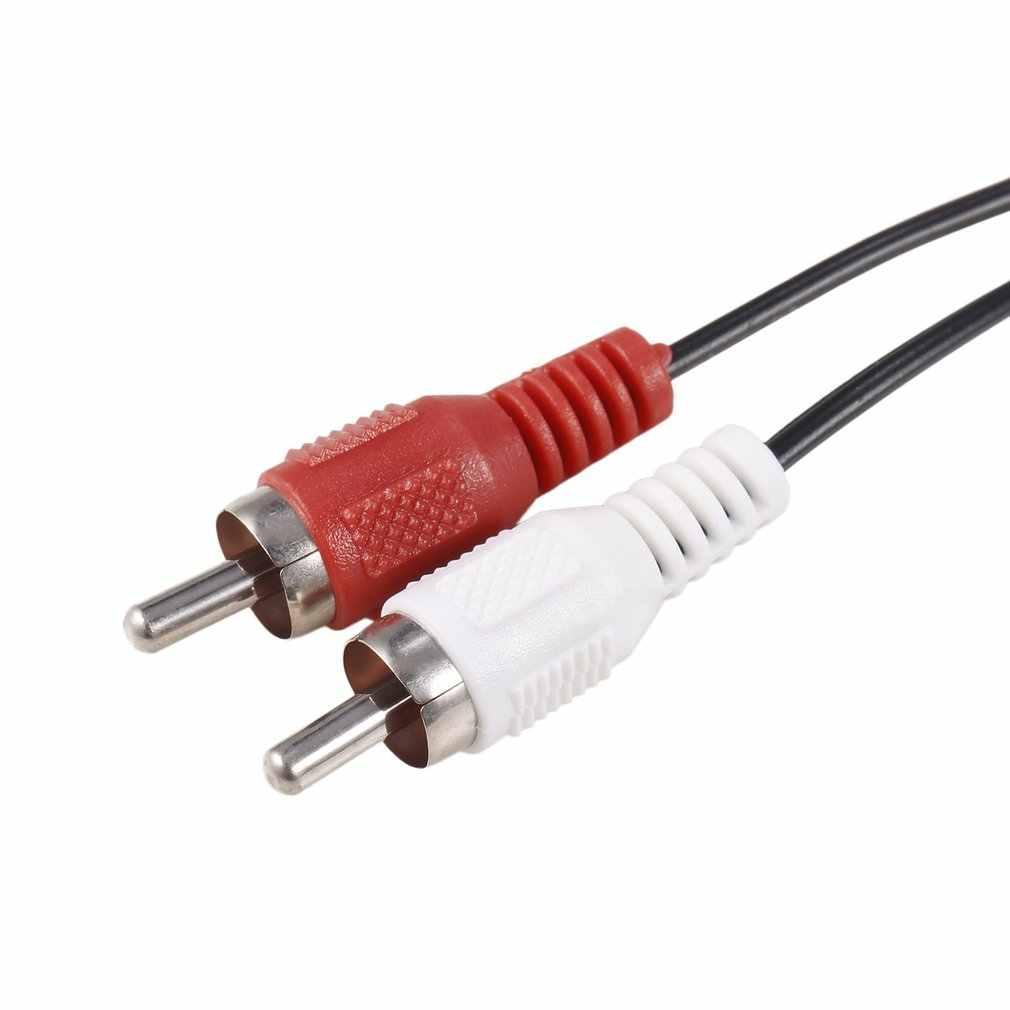 Mini conector de 3,5mm a 2 RCA macho música estéreo Audio Y adaptador de Cable AUX para Mp3 Pod teléfono altavoces de sonido de TV
