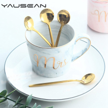 4PCS Titanium plated ice cream spoon Teaspoons stainless steel Coffee spoon Kitchen Dining Bar Tableware Tools Home accessories цена