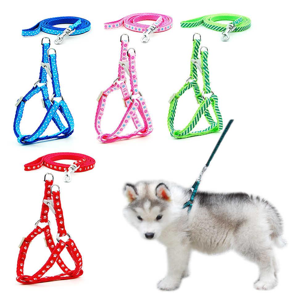 2 teile/los Hund Katze Harness Leine Harness Weste Leine Kragen Welpen Kleine Pet Outdoor Walking Chihuahua Terier Schnauzer