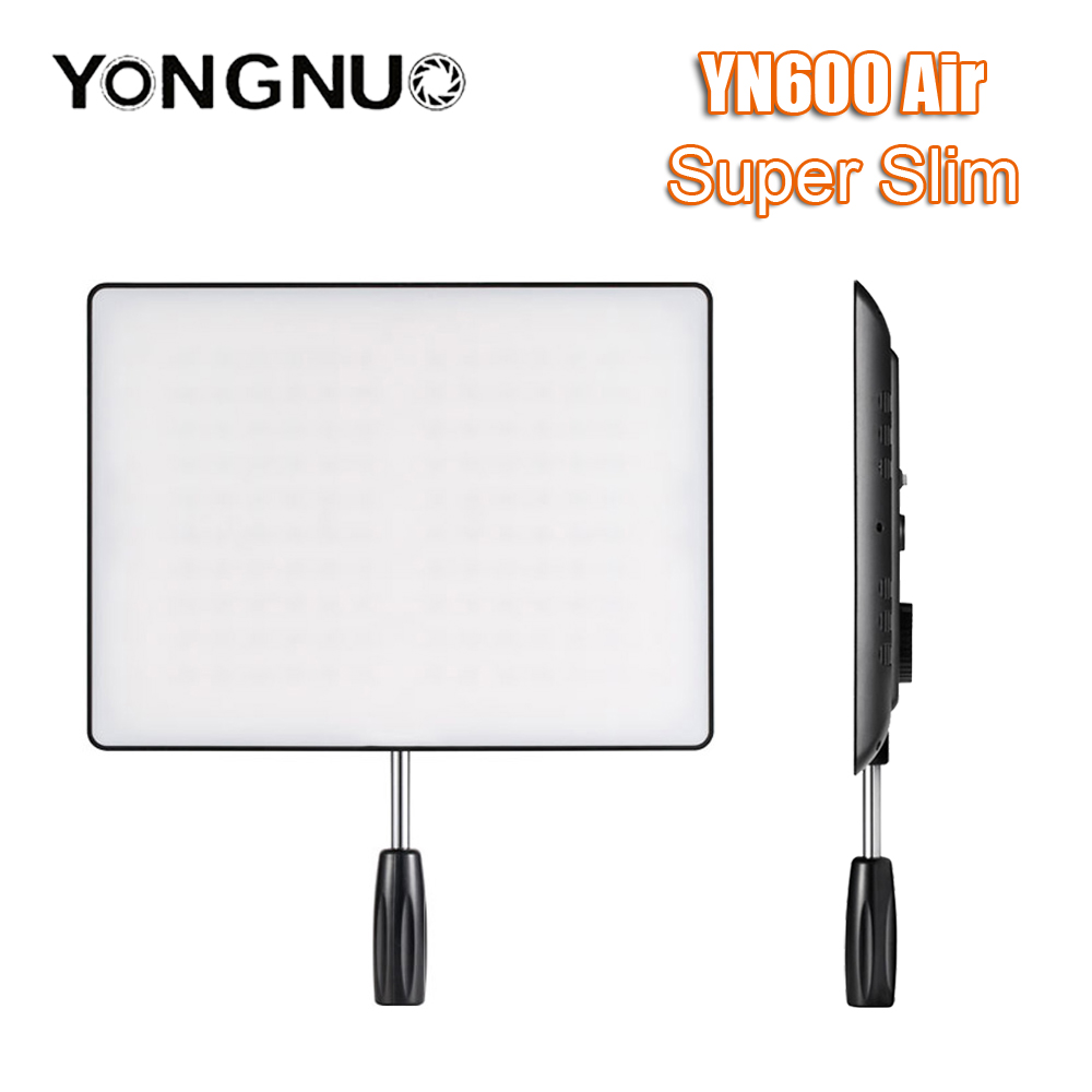 YONGNUO <font><b>YN600</b></font> <font><b>Air</b></font> 3200K-5500K LED Camera Video Light Bicolor LED Panel Photographic Studio Lighting for Canon Nikon DSLR Camera image