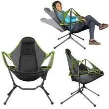 Chaise pliante d'extérieur, balançoire de jardin, plage, lune, avec oreiller, pour Camping, pêche, ultraléger, Portable
