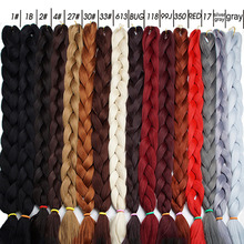 Alizing Braiding Hair 1 Piece 165g 82 Inch sYNTHETIC High Temperature Pure Color Braid Extension Cheveux
