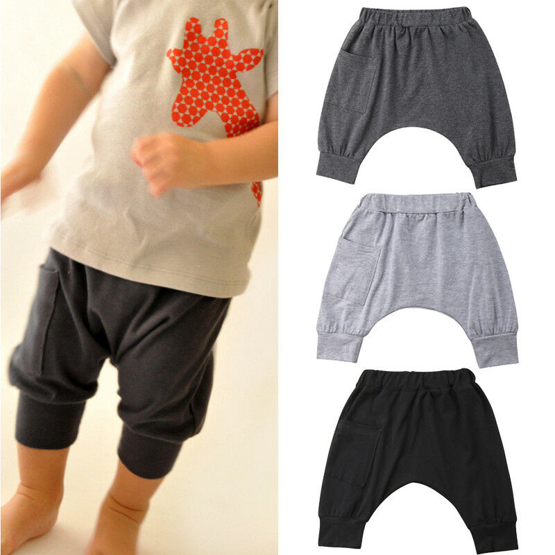 Toddler Baby Kids Boy Pants Solid Color Elastic Bottom Wild Fashion Legging Trousers Jogger Baby Boy Clothes 0-5T