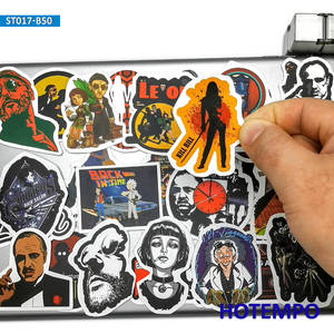 Image 2 - 50pcs Classic Movie Fight Club Godfather Mix Graffiti Stickers for Mobile Phone Laptop Luggage Pad Case Skateboard Decal Sticker