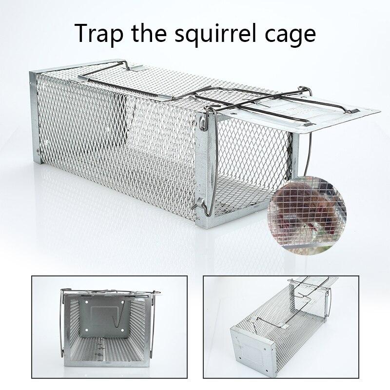 Серебряная крысиная клетка мышонка ловушка для мыши стальная сетка Snare хомяк инструменты Бонд портативная ловля мышей грызунов