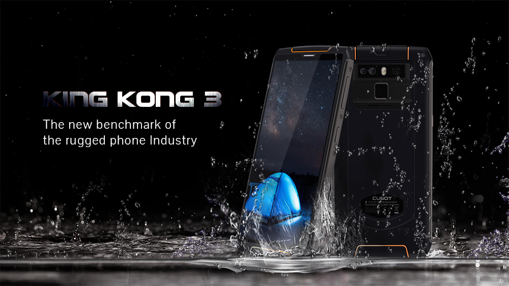 Cubot King Kong 3 Rugged Refurbished Blackview Phone With 6000mAh Battery And 4GB RAM 64GB ROM 10