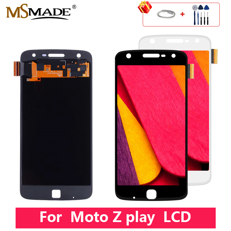 Original For Motorola Moto Z Play <font><b>XT1635</b></font> LCD Display Touch Screen Digitizer Assembly Parts Free Shipping For <font><b>XT1635</b></font>-02 LCD image