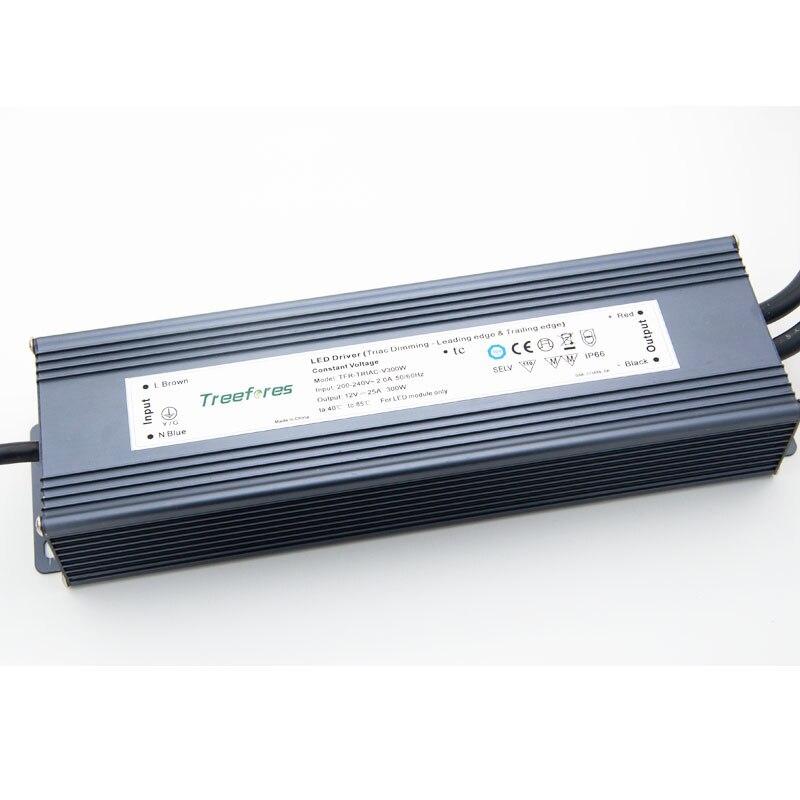 IP67 Driver Adapter Dimmable 0-10V DALI Triac Dimming Strip Lamp Outdoor Transformer 12V 24V 80W 100W 120W 150W 200W 300W 360W