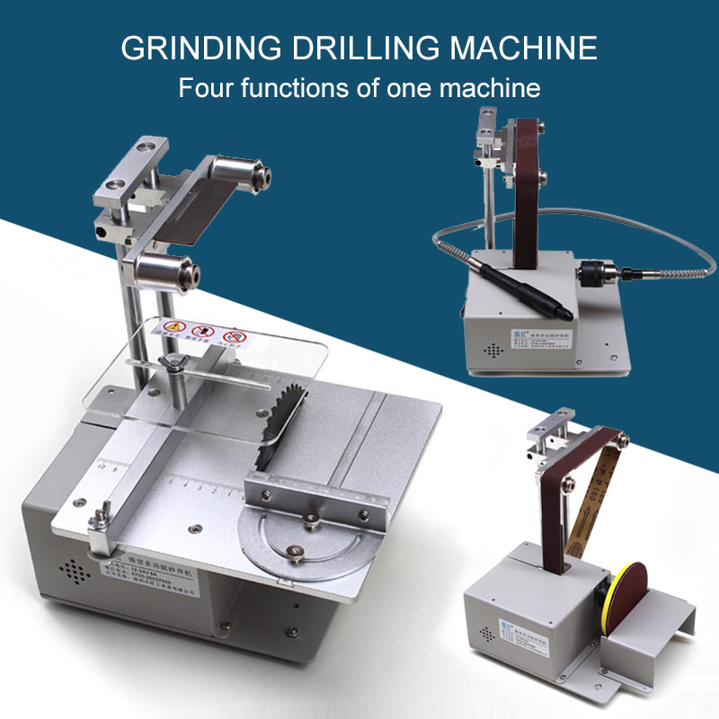 Multifunctional Small Table Saw Miniature Electric Saw DIY Desktop Precision Saw Small Cutting Machine Grinding Drilling Machine