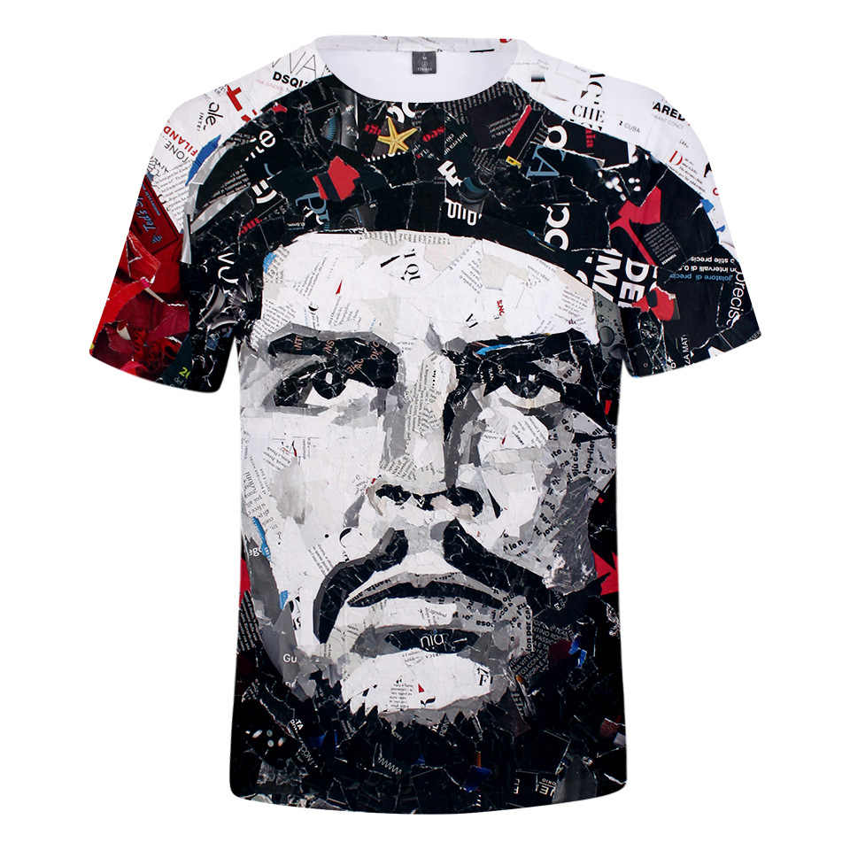 Camiseta de manga corta para niños adultos 2018 nuevo estilo gran oferta tendencia Che Guevara Impresión Digital 3D