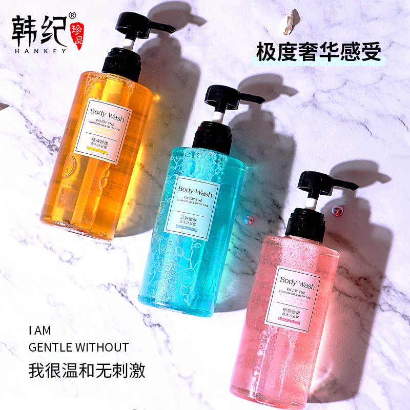 Hankey Rosa tentação de seda perfume shower gel 500ml limpo, refrescante e hidratante lavagem do corpo gel de banho produtos de cuidados da pele