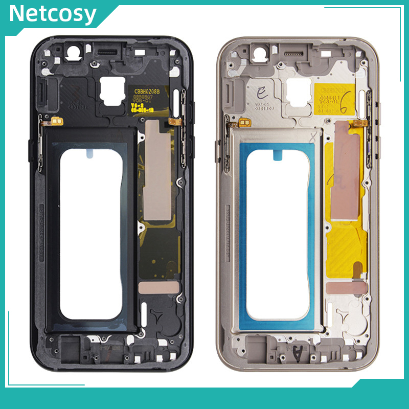 Netcosy Middle Frame Bezel Housing Cover For Samsung Galaxy A5 2017 A520 A520F Mid Plate Chassis Cover Replacement Parts