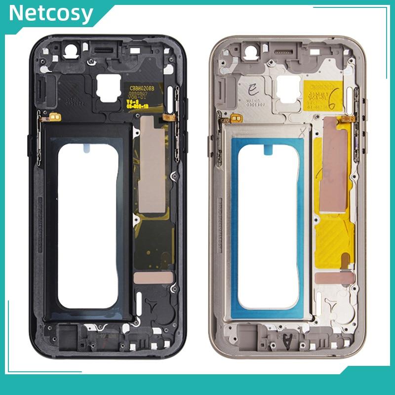 Netcosy средняя рамка ободок корпус крышка для Samsung Galaxy A5 2017 A520 A520F средняя пластина Корпус Запасные части