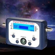 Dijital evrensel GSF 9506 dijital uydu bulucu TV sinyal uydu bulucu Mini anten uydu için LCD ekranlı TV