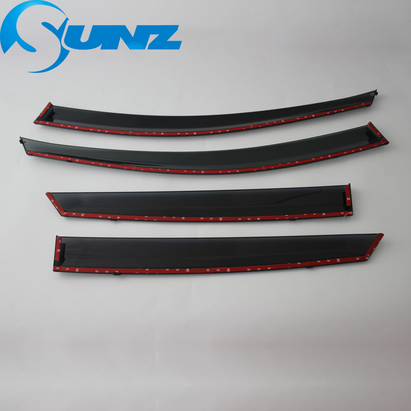 Image 5 - Window Visor for HYUNDAI ix35 2010 2017 side window deflectors rain guards for HYUNDAI ix35 2010 2017 SUNZ-in Awnings & Shelters from Automobiles & Motorcycles