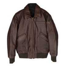 2020 Dark Brown Men USAF Pilot Leather Jacket Genuine Cowhide Winter Short Military Aviator Leather Coat FREE SHIPPING(China)