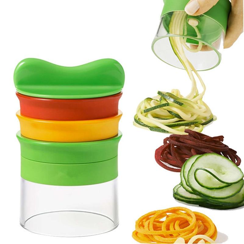 NEW VEGGIE SPIRALIZER Hand Held Spiralizer Vegetable Slicer Spiral Cutter USA
