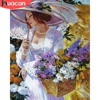 HUACAN DIY Pictures By Number Woman Kits Home Decor Painting By Numbers Figure Drawing On Canvas HandPainted Art Gift