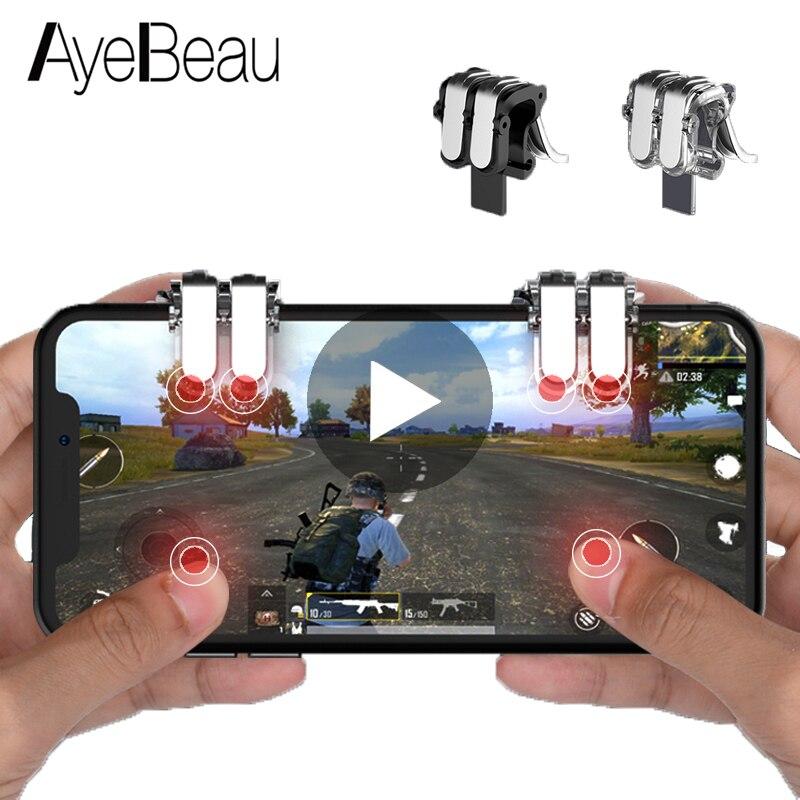 manette de jeu et de vis/ée Pubg Manette de jeu mobile 3 en 1 pour t/él/éphone portable d/éclencheur pour prise de vue de t/él/éphone mobile