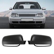 Чехол для автомобильного зеркала заднего вида матовый черный для VW Passat B5 Bora Golf 4 для всех автомобилей MK4 VW(без поворотников