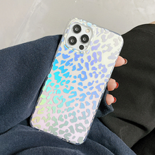 LOVECOM Laser Gradient Leopard Print Clear Phone Case For iPhone 12 Pro 11 Pro Max XS Max XR X 7 8 Plus Coque Soft IMD Fundas