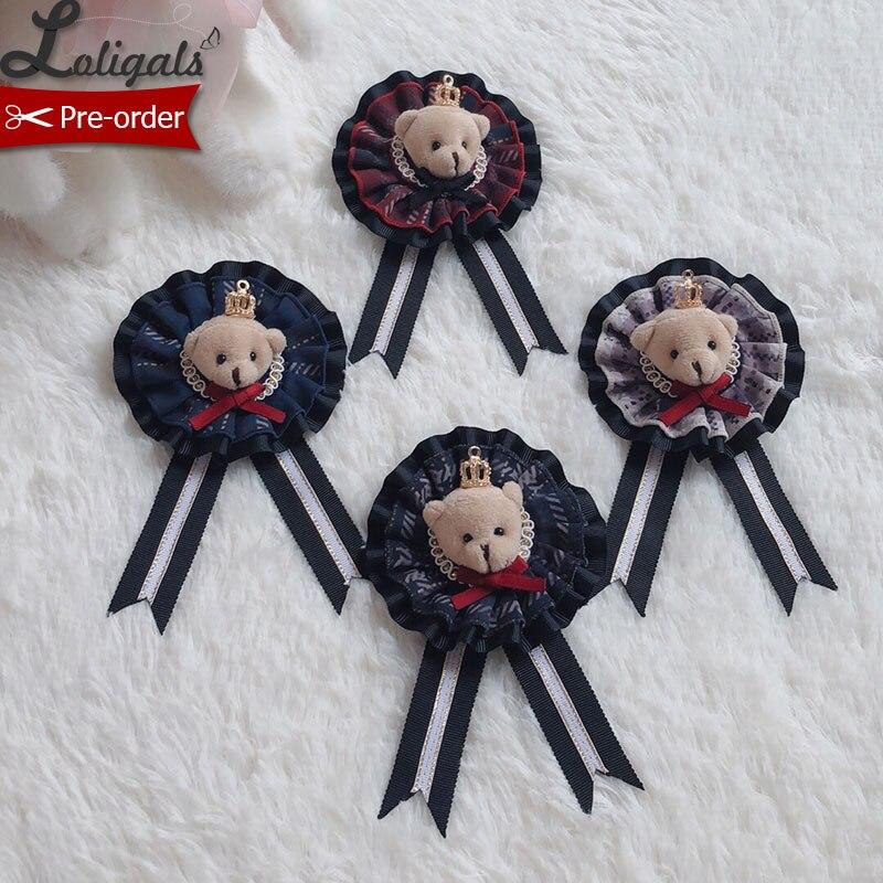 Lovely Teddy ~ Sweet Lolita Badge Headpiece By Alice Girl ~ Pre-order