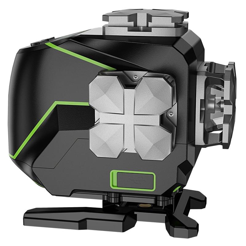 Level Hard Function Outdoor Linelaserlevel16 4D Laser Pulse Carry CaseBluetooth Huepar Mode S04CG Green Beam With Amp Line
