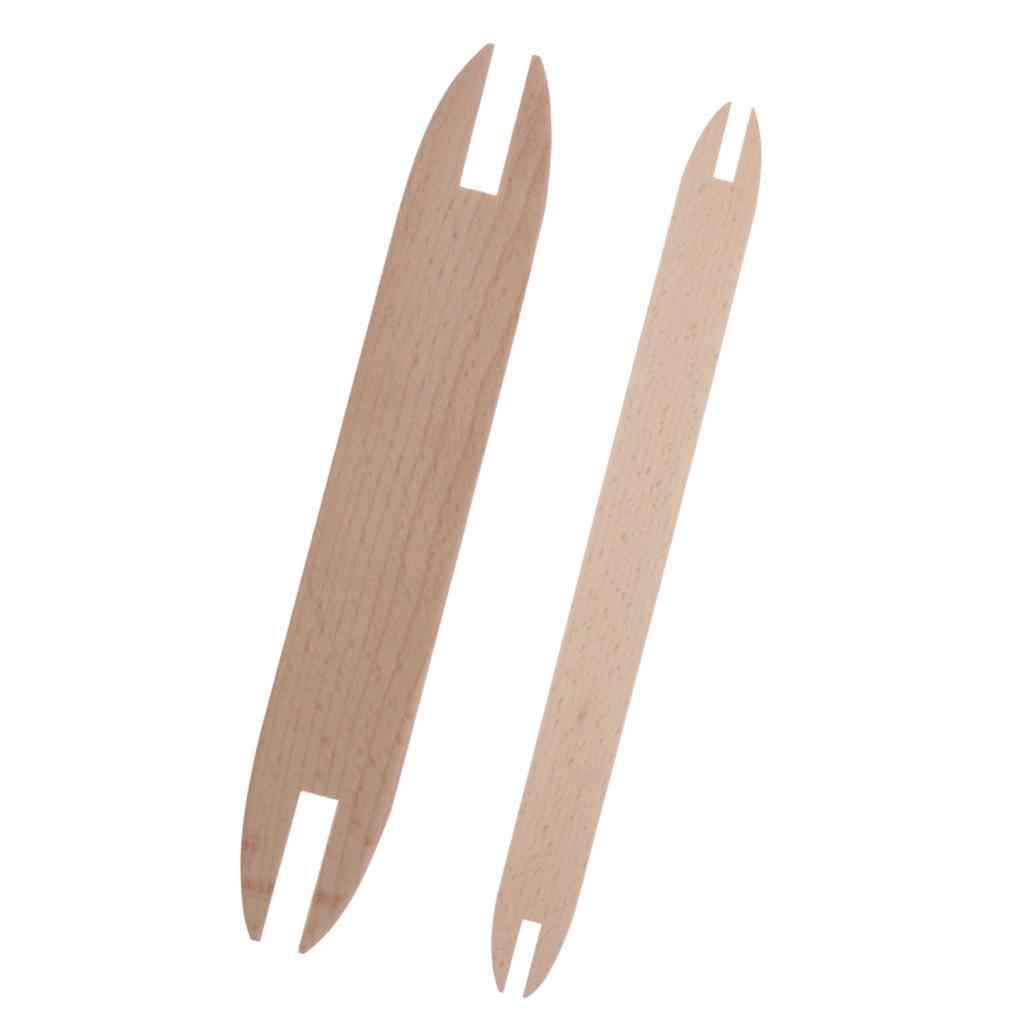 EXCEART Wooden Shuttles Weaving Sticks DIY Knitting Tool for Knitted Crafts Sweater Scarf Tapestry Sewing Accessories Large