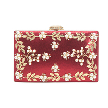 купить retro pearl embroidery ladies evening bag flower pattern fashion diamante crystal diamonds clutch bag по цене 610.93 рублей