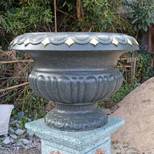 Big size plastic flower pot mold made concrete outdoor garden decoration vase mould for sale