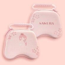 Sakura funda para interruptor de mando de juegos, carcasa rígida resistente al agua, bolso portátil para Nintendo Switch Pro, PS4, Xbox Controller, color rosa