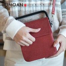 EUMOAN New leather original handmade small square bag literary retro sheepskin hit color hand diagonal shoulder