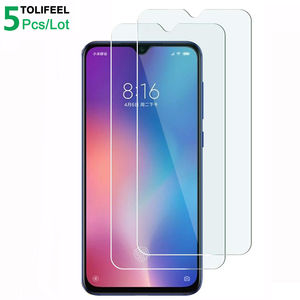 Image 1 - 5Pcs Tempered Glass For Xiaomi Mi 9 Screen Protector 9H 2.5D Phone On Protective Glass For Xiaomi Mi 9 SE Mi9 Glass