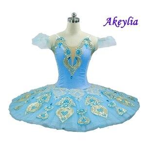 Image 1 - 스카이 블루 전문 투투 여성 클래식 전문 발레 튜 터스 팬케이크 Coppelia 백조의 호수 발레 의상 드레스 여자