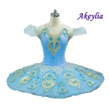 Sky Blue Professional Tutu Women Classical Professional Ballet Tutus Pancake Coppelia Swan Lake Ballet Costume dress for girls