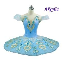 Sky Blue profesyonel Tutu kadın klasik profesyonel bale tutuş gözleme Coppelia kuğu gölü bale kostümü elbise kızlar için