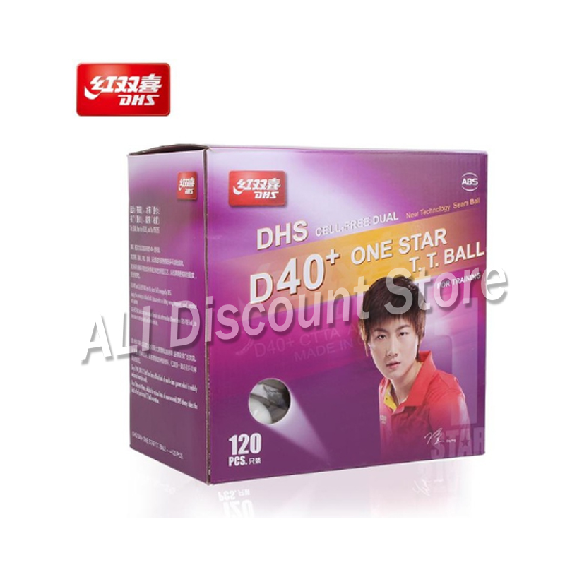 120 PCS DHS 1-Star D40+ Table Tennis Balls New Material 1-Star Seamed Plastic Poly Ping Pong Balls
