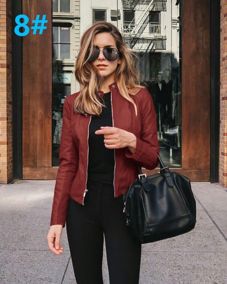 H97882d4ebe20451385f8d4e17b09d1a1t 2021 Women Winter Coat Jacket Thicken Fashion Long sleeve Outwear PU Leather Jacket warm Coats For Women Autumn Women's Clothing
