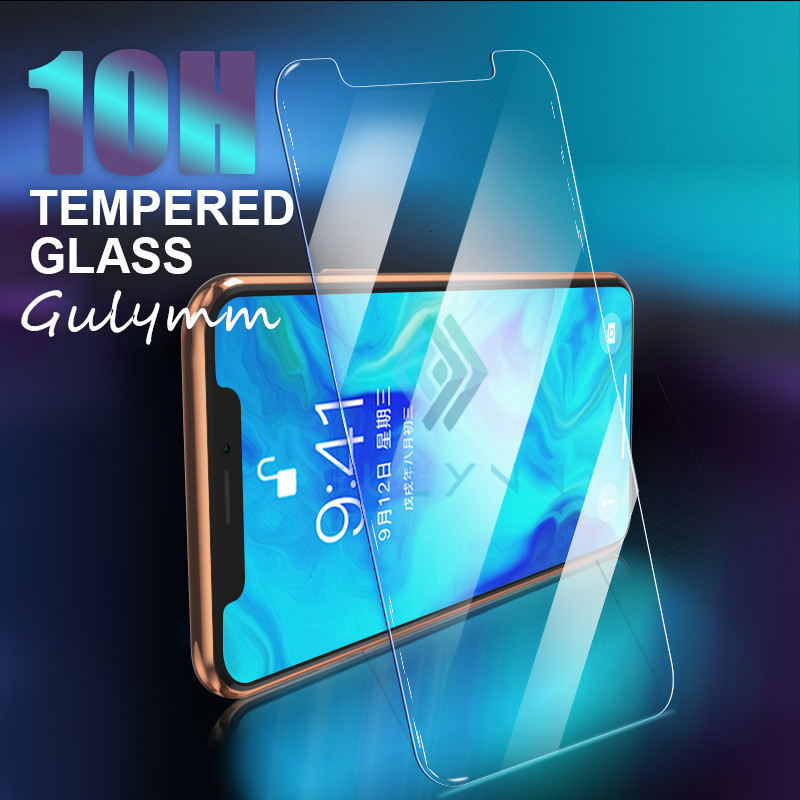 Screen Protector for iPhone 11 Pro Max X XR XS Max 10H Tempered Glass Protective Glass on the for iPhone 8 6 6S Plus 5S SE Cover image