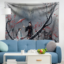 1pc Mo Dao Zu Shi Wall Tapestry Hanging Decor Psychedelic Throw Polyester Cloth Tapestries Carpet New