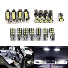 16/20 Stks/set Perfecte Witte Canbus Led Interieur Lamp Indoor Kaart Dome Light Bulb Kit Voor Audi A3 S3 RS3 8P A4 B6 B7 S4 RS4 Sedan